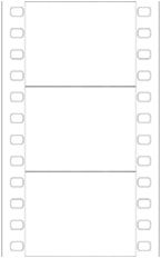 3 Frame Film Strip Without Audio